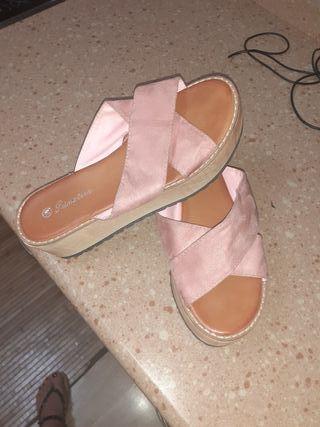 zapatos rosa claro