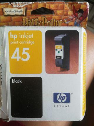 cartucho tinta hp inkjet número 45 color negro