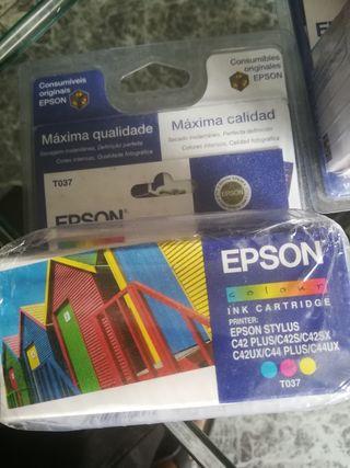 cartucho de tinta Epson T037 (tricolor) 2 unidades