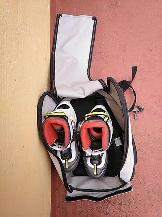 Patines en línea con mochila de transporte