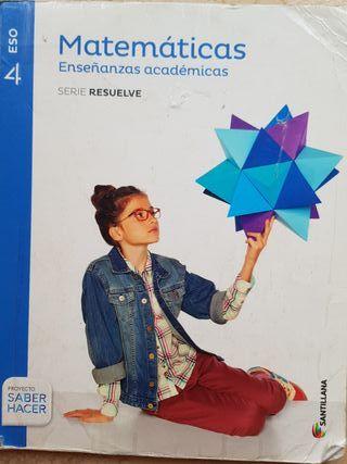 Libro matemáticas enseñanzas académicas 4 eso