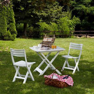 Conjunto Jardín Plegable 2 Sillas y Mesa Camping