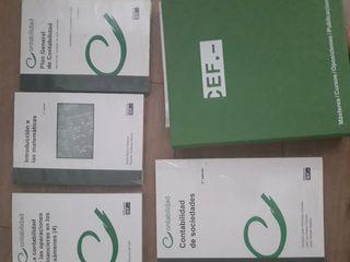 libros CEF: contabilidad y matematicas financieras
