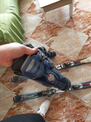 esquís rossignol axium sliper con botas