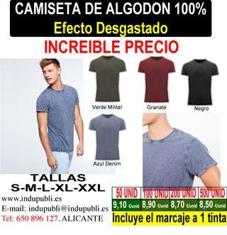 Camiseta Efecto desgastado para publicidad