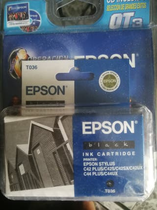 cartucho tinta Epson T036 color negro 3 unidades