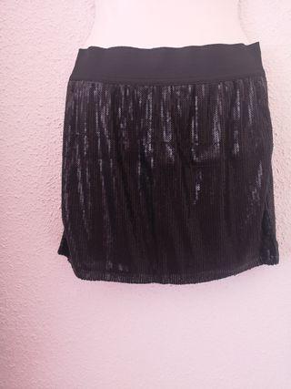 Minifalda de lentejuelas Talla S