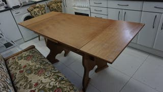 Mesa 2 sillas extensible madera antigua 110 x 70cm