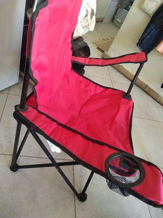 Silla plegable de playa camping senderismo