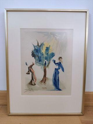 Litografía firmada Dalí ( pintura arte cuadro )