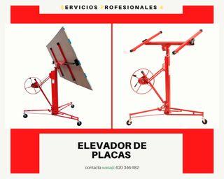ELEVADOR DE PLACAS DE PLADUR.