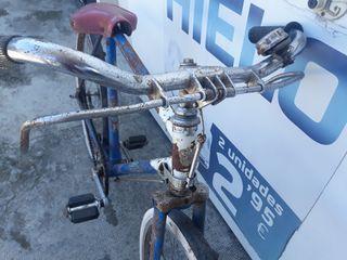 bicicleta antigua de varillas marca BH