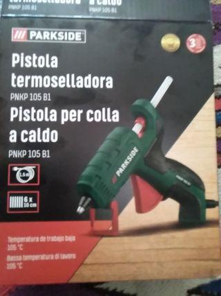 Pistola termoselladora.