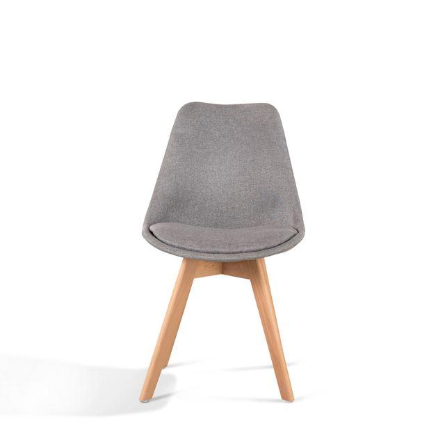 Pack de 2 silla modelo Nordico Gris TULIPA