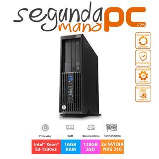 WorkStation HP Z230 SFF - E3 - 16GB - 128GB SSD