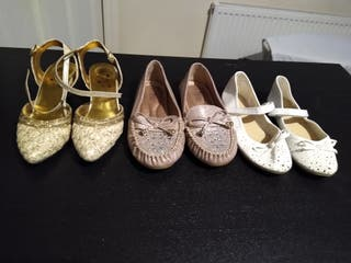 3pairs of girls shoes very good condition .