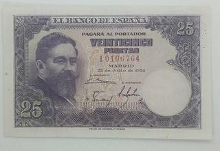 "Billete 25 Pesetas 1954 Albeniz ""SC-"""