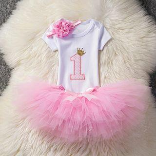 conjunto niña bebé nuevo princesa cumpleaños