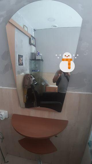 2 tocadores con espejos para peluquería