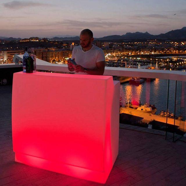 Mobiliario con luz