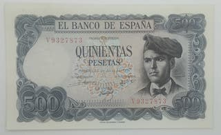 "Billete 500 Pesetas 1971 Jacinto Verdaguer ""SC"""