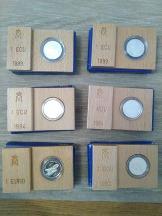 moneda plata 1 ECU