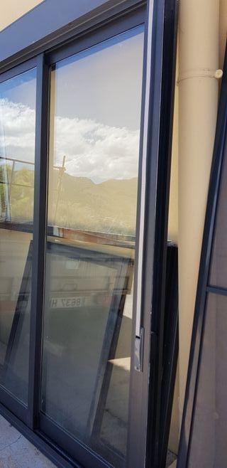 Ventana balconera 4 hojas doble acristalamiento