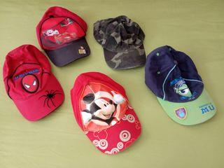 Lote gorras niño