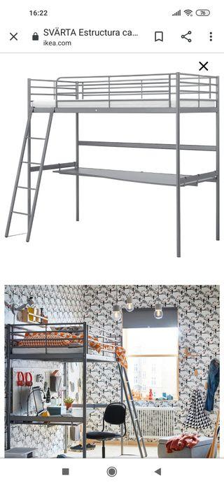 escritorio para cama alta de Ikea