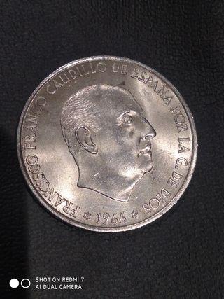 100 pesetas 1966 estrella 69