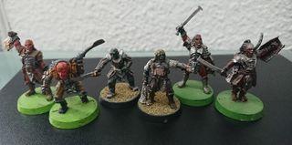 Miniaturas ESDLA Caudillos Orcos y Uruk Hai