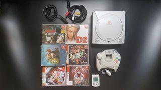 Consola Sega Dreamcast Japonesa + Juegos