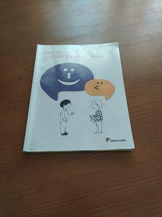 libro de texto Valores Sociales y Cívicos 4°