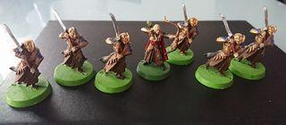 Miniaturas ESDLA Haldir y Elfos de Haldir