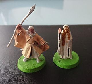 Miniaturas ESDLA Gandalf y Galadriel