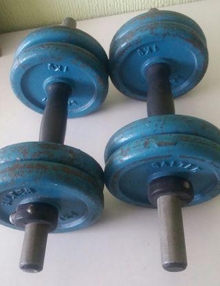 Mancuernas de hierro de 4 kg cada una