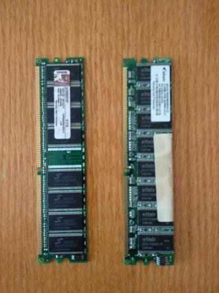 2 targetas memoria RAM