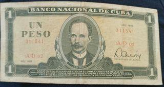 Billete un peso cubano