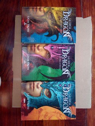 La chica dragon, licia troisi, los 3 libros 15,5€