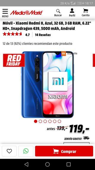 vendo Xiaomi Redmi 8a 32gb.urge venta