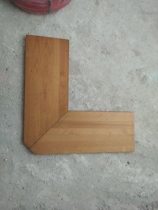 Balda esquina madera