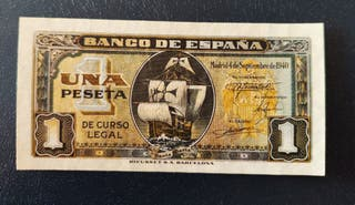 billete 1 peseta 1940