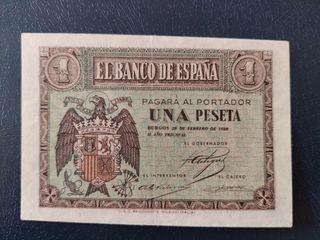 billete 1 peseta 1938 sc febrero