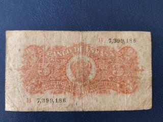billete 5 pesetas 1937 portobela