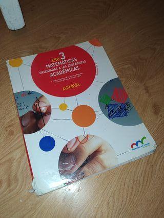Libro de Matemáticas Académicas 3 ESO ANAYA