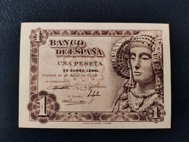 billete 1 pesetas 1948 Sin circular