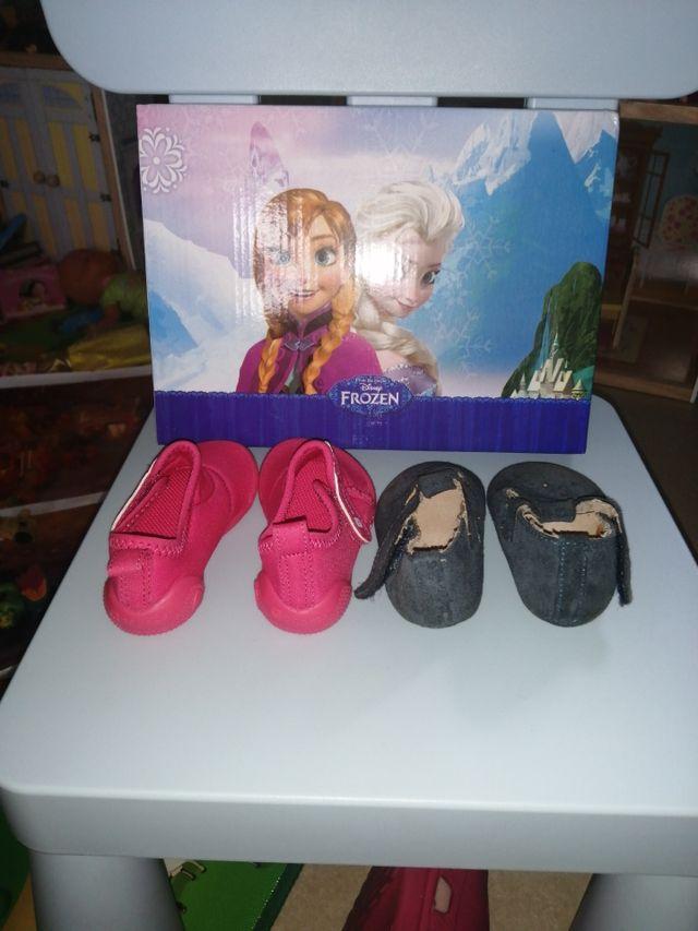 Lote de zapatos talla 17 para bebé.