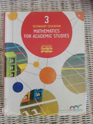 Mathematics for Academic 3° ESO Anaya
