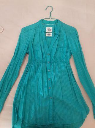 Camisa turquesa talla S