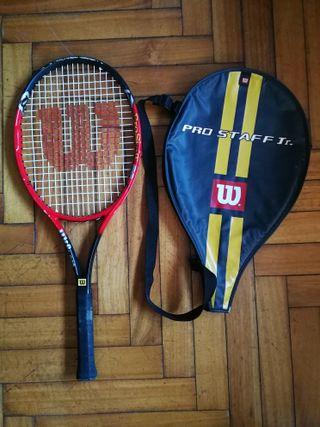 """Raqueta 26"""" Wilson ProStaff Jr, buen estado+ funda"""